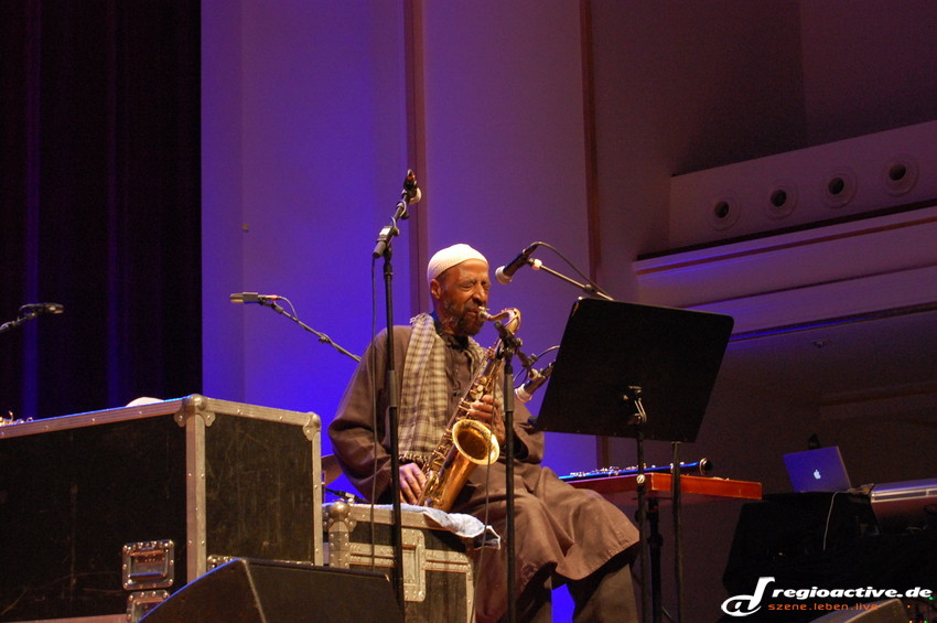 Yusef Lateef bei der Generalprobe am 9. November (BASF-Feierabendhaus, Enjoy Jazz 2012).